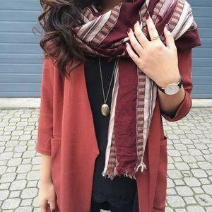 Aritzia Mixed Stripe Blanket Scarf